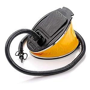 meteor Bomba de Pie Aire Pump Inflador Manual para Barca Colchonetas Hinchables Kayak Juguetes de Piscina Balones - 3 Boquillas - Ideal para Casa y Acampanda