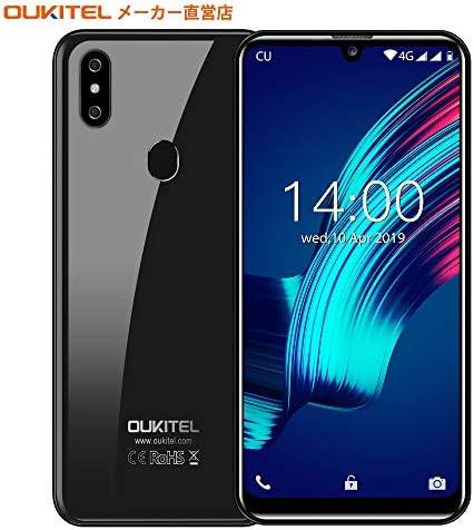 OUKITEL C15 Pro+ 4G SIMフリースマートフォン本体 3GB RAM+32GB ROM 6.1インチHD+大画面Android 9.0 携帯電話 デュアルSIM グローバルLTEバンド対応スマホ 8MP+2MP/5MPカメラフェイスと指紋ロック解除 技術適合認証