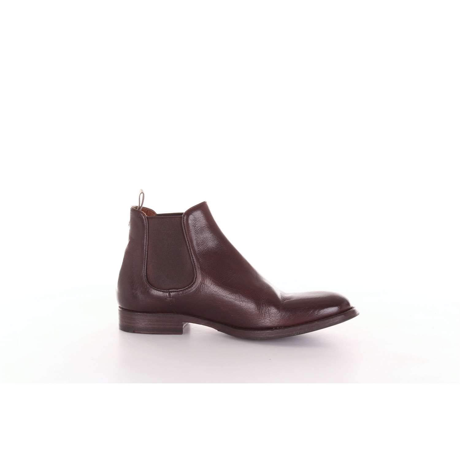 - PANTANETTI Men's 10940DDARKBROWN Brown Leather Ankle Boots