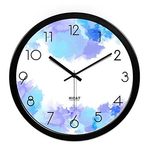 FortuneVin Wall Clock Non-Ticking Number Quartz Wall Clock Living Room Decorative Indoor Clock Bedroom Clock Kitchen Clock Flowers Muted Quartz Clocks W024Black-Black Metal Box14 India .35Cm,10 Ini,