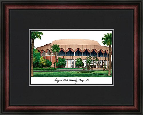 Arizona University Framed State Lithograph (Arizona State University Academic Exquisitely Framed Imprinted Lithograph)