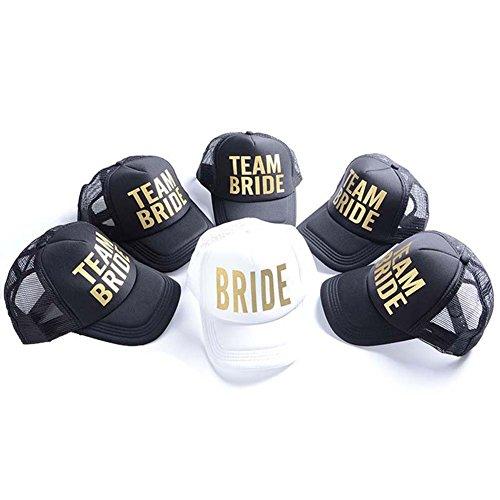 6 Pack Team Bride Baseball Hats Bachelorette Party Bridal We