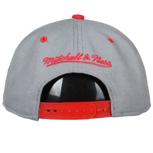 Mitchell & Ness - Casquette de Baseball - Homme Gris Grey - Grey / Red Taille unique