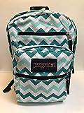 JanSport Big Student Backpack (Aqua Dash Zou Bisou, BLACK ACCENTRare