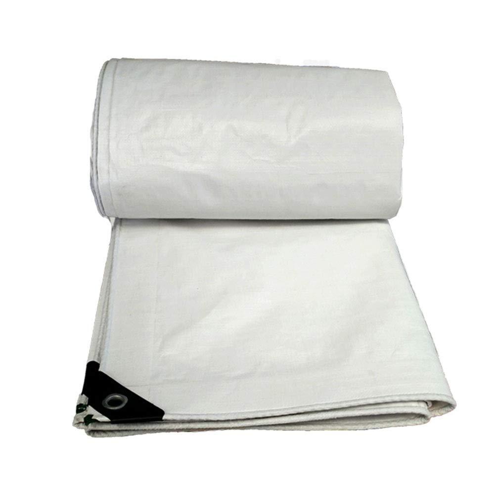 Canvas Tarpaulin Waterproof Cover Heavy Duty Sun Protection Sunshade Thickening PE Rainproof Waterproof Cloth Truck Tarpaulin Double White Canopy Plastic Cloth ZHANGQIANG (Color : A, Size : 2x3m)