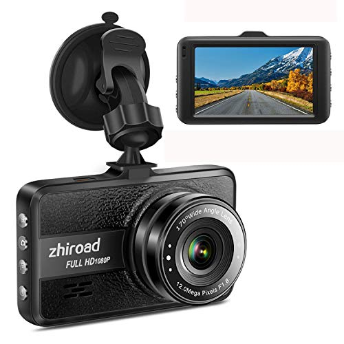 Dash Cam FHD 1080P Car Camera DVR Dashboard for Cars 3 LCD Screen with 170°Wide Angle,G-Sensor, WDR, Parking Monitor, Loop Recording Motion Detection Driving Recorder-Black