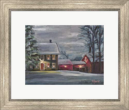 Sterling Hill Twilight by Marnie Bourque Framed Art Print Wall Picture, Silver Scoop Frame, 21 x 18 inches