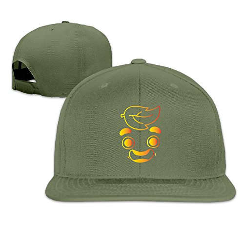 Basee Gold Guava Juice Face Adjustable Flat Along Baseball Cap Forestgreen
