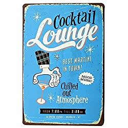 MARTINI Cocktail Lounge Metal decor Sign Vintage Tin Plate Chill Alcohol Drink for Hotel room printing decor