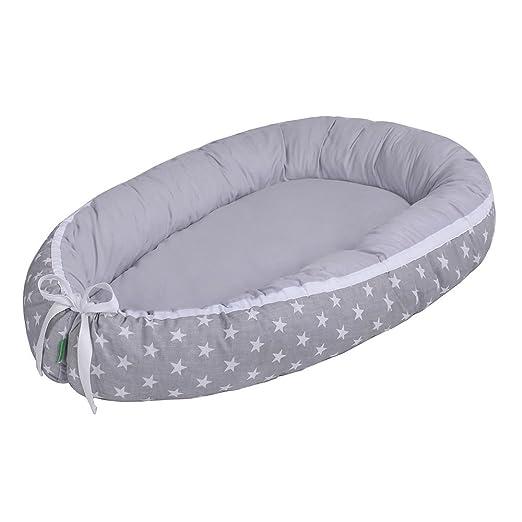 LULANDO Babynest, multifunktionales Kuschelnest für Babys und Säuglinge, Nestchen, Reisebett, 100% Baumwolle, antiallergisch,