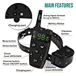 [Upgraded 2020] Dog Training Collar with Remote - Shock Collar for Dogs Range 1600 feet, Vibration Control, Rechargeable Bark E-Collar - IPX7 Waterproof for Small, Medium, Large Dogs, All Breeds 12