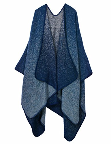 Sexyshine Women's Winter Open Front Cashmere Oversized Wrap Poncho Cape Cardigans(ZQ-nidian)