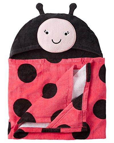 Towel Hooded Multiple Styles Ladybug