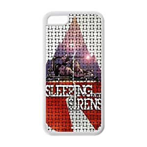Custom Popular Rock Band SWS Sleeping With Sirens Case for iPhone 5C Rubber Cover Case-5CSWS46