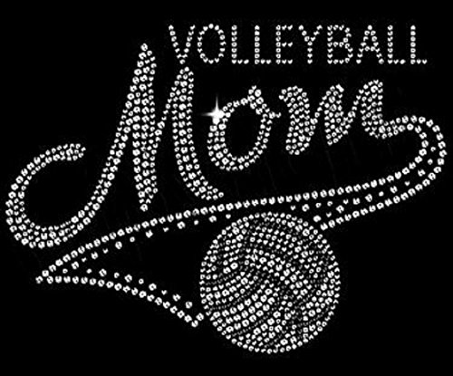 Volleyball Mom Rhinestone Iron on ()