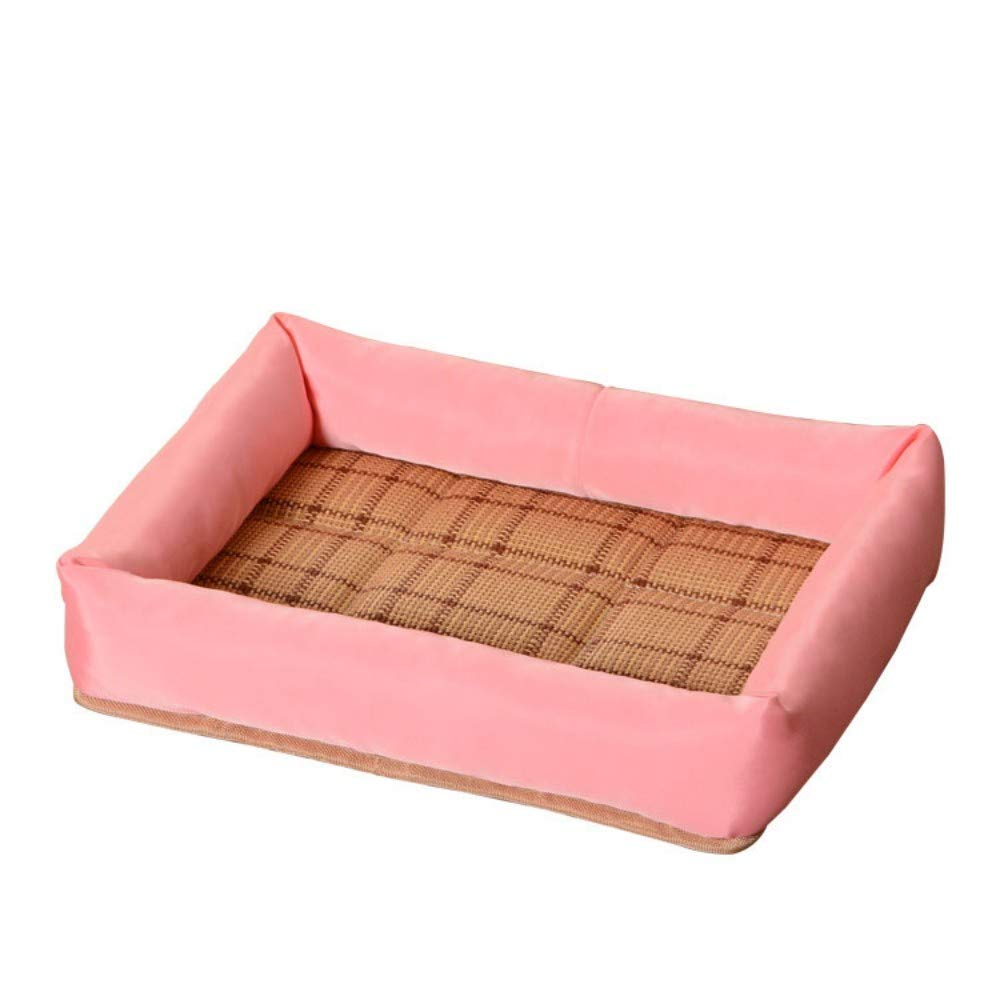 Pure Pink XL DLwbdx Small dogs in cat and dog pet kennels keep warm pink in winter,bluee L