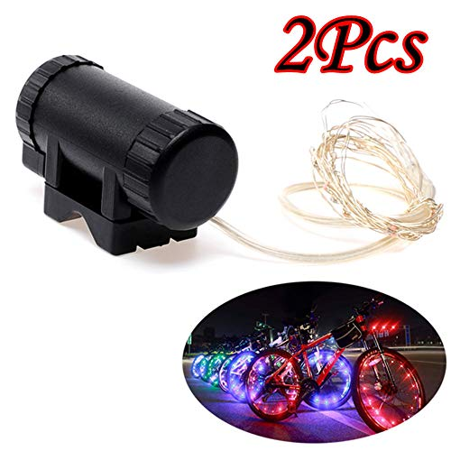 HCDjgh Bicycle Lights for Wheels, Waterproof Bike Light Colorful Bicycle Wheel Spoke Decoration Strip 2pcs ColorღLighting Parts & Accessories