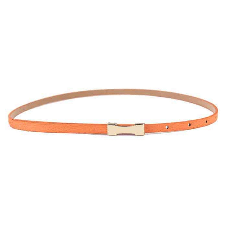 OnIn Women Lady Fashion Metal Fhin Gold Buckle Skinny PU Leather Waistband Belt woman belts for dress,105cm,D