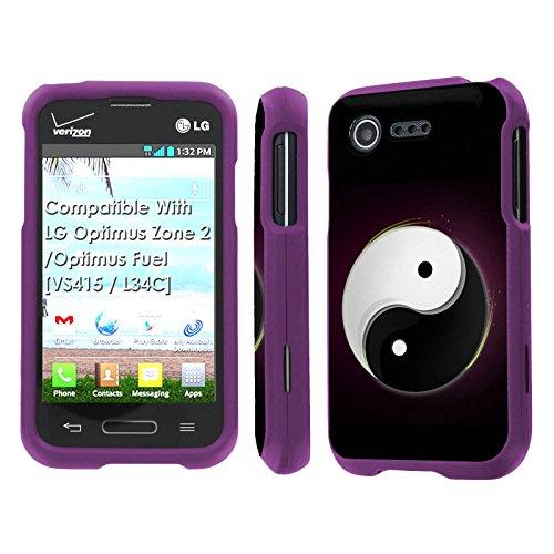 LG Optimus Zone 2 / Optimus Fuel [VS415 / L34C] Case, [NakedShield] [Purple] Total Armor Protection Case - [Ying and Yang] for LG Optimus Zone 2 / Optimus Fuel [VS415 / L34C]
