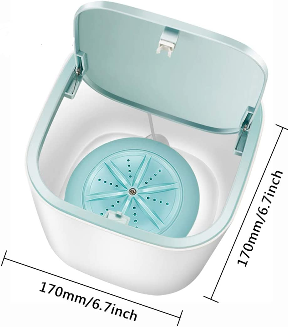 10L Foldable Turbo Washer Lightweight Travel Ultrasonic Turbine USB Powered Laundry Tub for Camping Dorms Apartments College Business Trip Clothes High-power Portable Mini Folding Washing Machine
