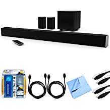 Vizio SB4451-C0 SmartCast 44' 5.1 Sound Bar System w/ Essential Accessory Bundle includes Sound Bar, 2 x 6' Optical Toslink OD Audio Cables, 2 x 6' HDMI Cables, Cleaning Kit and Microfiber Cloth