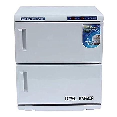 32L 2 en 1 Esterilizador de toalla UV Toalla calentador Ultravioleta Gabinete, Facial Piel Cuidado