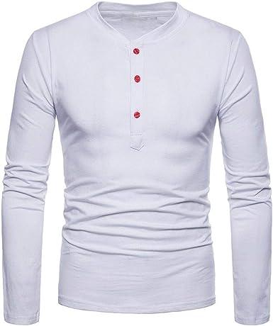 Camisas para Hombre Camiseta De Manga Larga Comfort Fit Blusa Ropa Superior Camiseta Deportiva Camiseta Básica De Manga Larga para Hombres Gimnasio Camiseta De Entrenamiento Físico: Amazon.es: Ropa y accesorios
