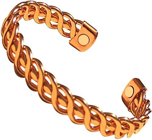 Pure Magnetic Copper Bracelet Link Chain Cuff Arthritis Heal