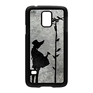 Banksy Girl and Tree Black Hard Plastic Case Snap-On Protective Back Cover for Samsung? Galaxy S5 by Banksy + FREE Crystal Clear Screen Protector
