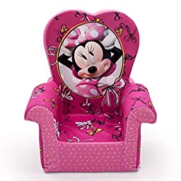 Marshmallow Furniture Minnie\'s Bow-Tique High-Back Chair