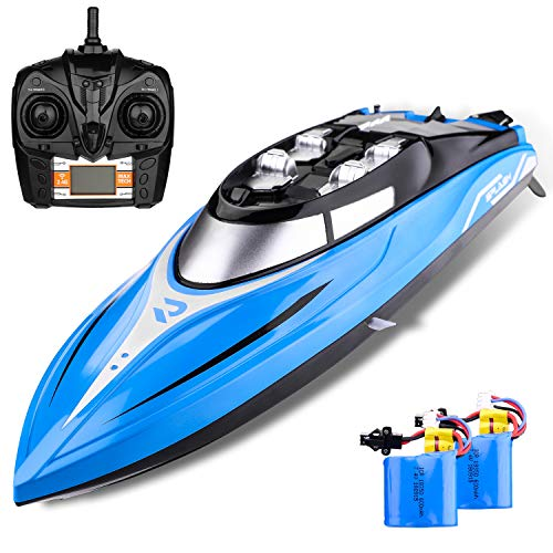 Remote Control Boats for Pools and Lakes - H108, Boys Fast Motor High Speed 2.4GHz Radio Controlled 25 miles / h Hobby Toy Electric Boat Prime Play Set for Teens Adults boys