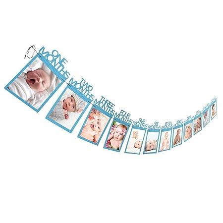 xiaoxi Marco de Fotos para bebés 1 año de Edad 12 Meses ...
