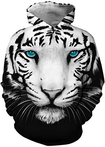 Tiger 135 - Pandolah Kids 3D Print Galaxy Hoodie Pullover Novelty Sweatshirt(135-150cm(L),Eye Tiger-d)