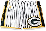 NFL Green Bay Packers Women's Pinstripe Polyester Shorts, Small, Green
