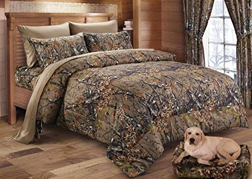 - Regal Comfort The Woods Hunter Camo Comforter Natural Brown - King 104 x 94