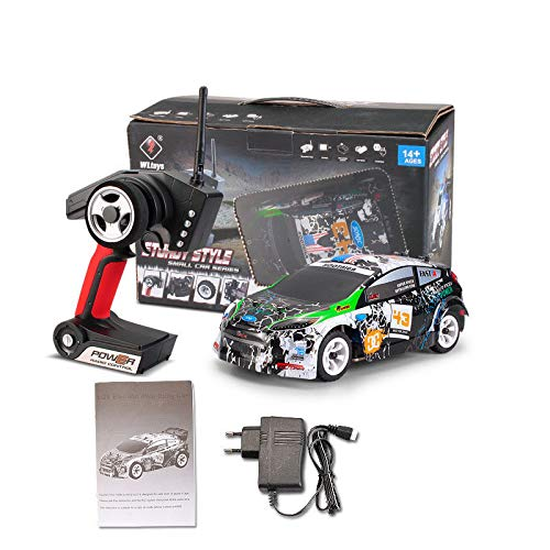 - elegantstunning W-Ltoys K989 1/28 2.4G 4WD Brushed RC Remote Control Rally Car RTR with Transmitter