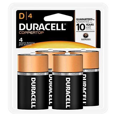 Duracell Coppertop Alkaline D Batteries - 4 Count