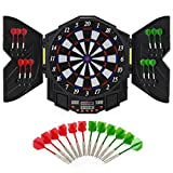 Best Choice Products Electronic Dartboard Sport Game Set w/ Cabinet, 12 Darts, LCD Display - Multicolor