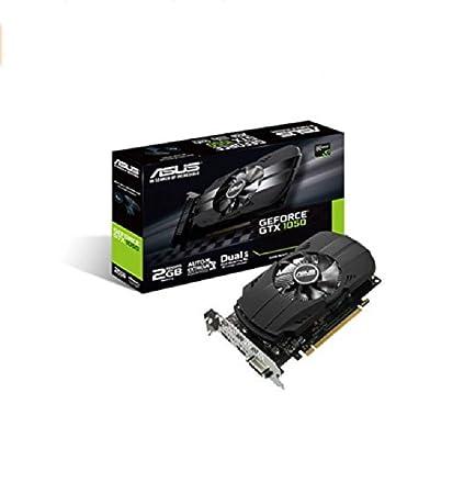 Asus PH-GTX1050-2G - Tarjeta gráfica (NVIDIA GeForce GTX 1050, 2 GB, DDR3 SDRAM) Color Negro