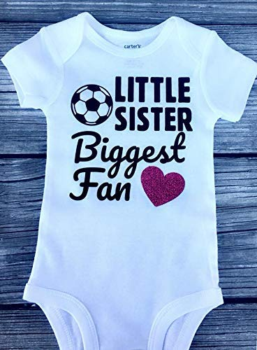 d5ea5b8f69887 Amazon.com: Little sister shirt - biggest fan shirt - soccer shirt ...
