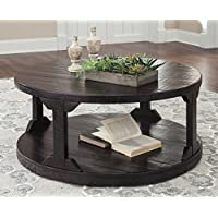 Rogness Rustic Brown Color Round Cocktail Table