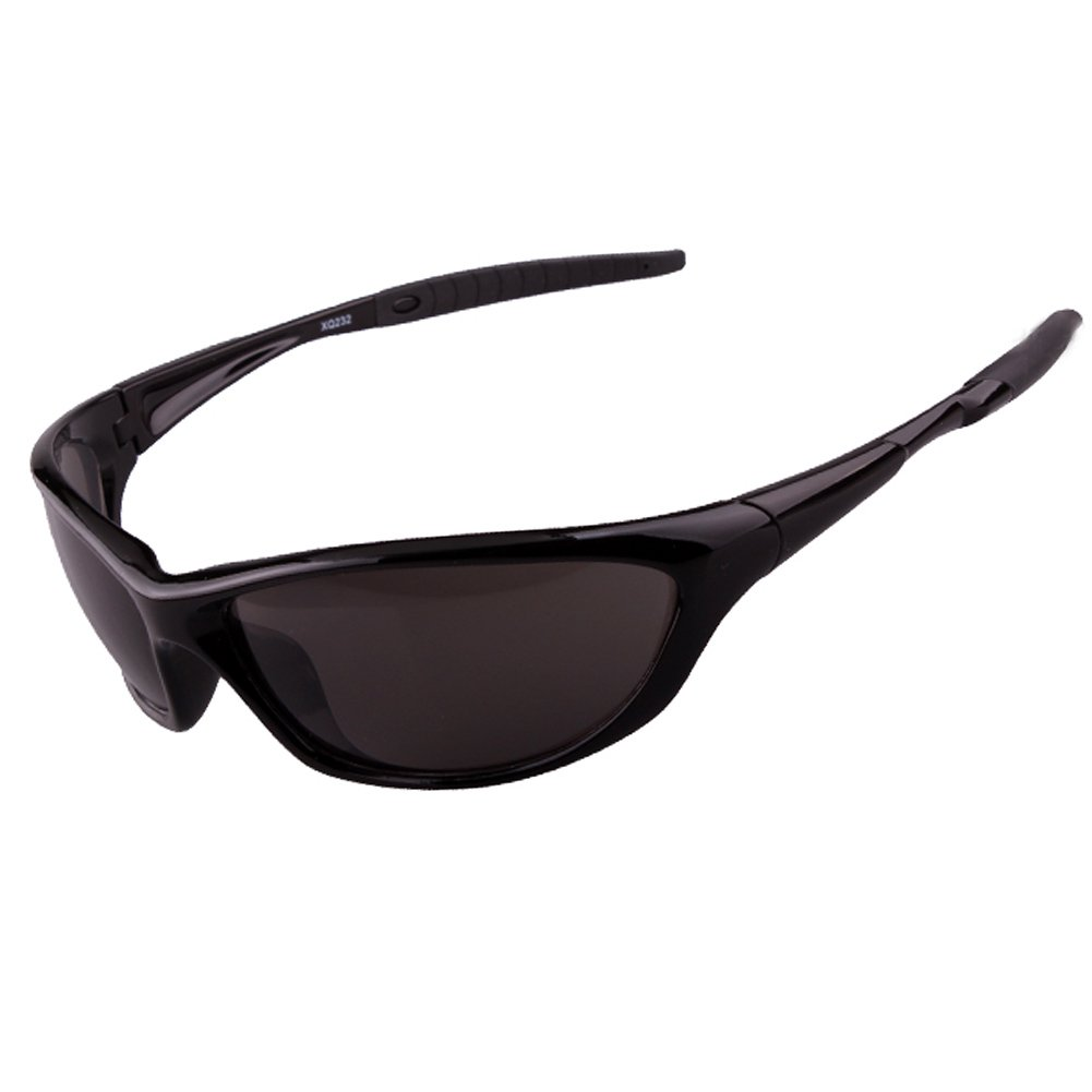 6ee4d51867a Amazon.com  Polarized Sports Sunglasses Driving Sun Glasses for Men Women  Tr 90 Unbreakable Frame for Cycling Baseball Running (Black