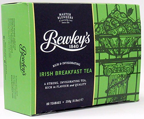 Irish Tea Black Tea (Bewley's Irish Breakfast Tea 250 g 80 Tea Bags)