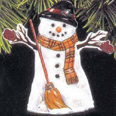 QX6715 Meadow Snowman 1997 Hallmark Keepsake Ornament - Meadow Snowman