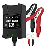 Automotive Battery Charger Best Deals - MoKo Ultra Safe Smart Battery Charger / Maintainer for 12V Lead Acid Batteries, Automotive, Motorcycles, Lawn Mower, Cars, Boats, ATVs, UTVs, Snowmobiles etc., with Fused Terminal Leads and Indicator
