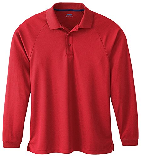 Extreme Mens Long Sleeve Eperformance Piqué Polo (85099) -CLASSIC RED -XL