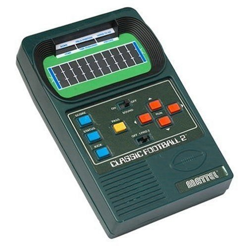 Mattel Classic Football 2: Handheld Electronic Game