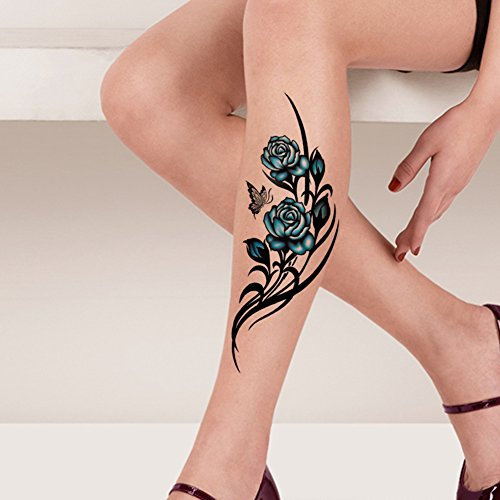 Tafly waterproof temporary tattoo sticker flower vine for Fake tattoos amazon