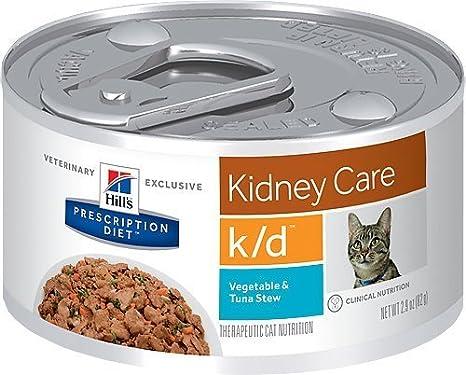 Hills Pet Nutrition Ltd Vegetales de salud renal felina y estofado de atún comida enlatada para gatos: Amazon.es: Productos para mascotas