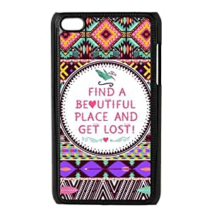 Aztec Tribal Patterned Durable Hard Shell iPod Touch 4 Case